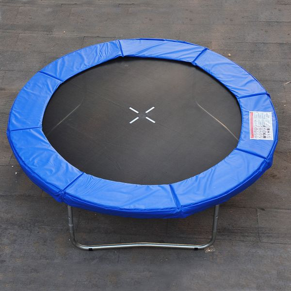 HOMCOM Φ8ft Trampoline Pad Spring Safety Replacement Gym Bounce Jump Cover EPE Foam (Blue) | Aosom Canada