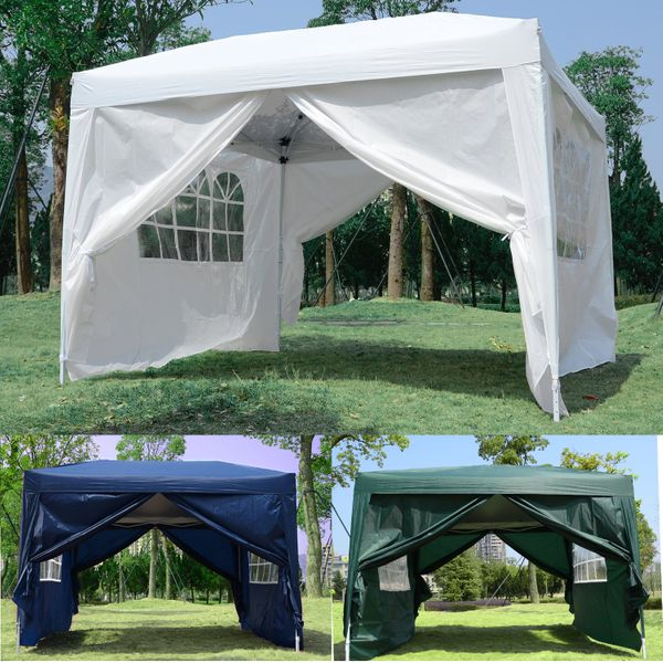 Outsunny10x10FT Folding Tent Gazebo Pop Up Party Wedding Tent Canopy | Aosom Canada