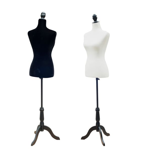 HOMCOM Female Mannequin Dress Form Torso Dressmaker Stand Display | Aosom Canada