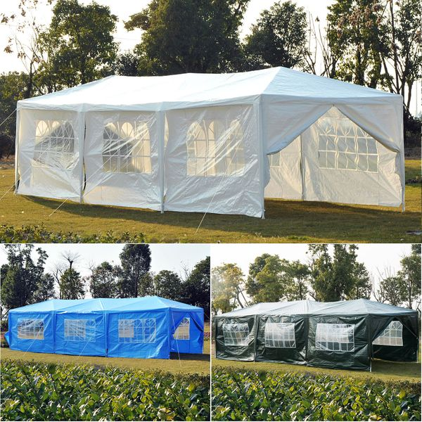 Outsunny 10x30 ft Marquee Wedding Party Tent Gazebo Canopy w/ 8 Removable Walls|Aosom Canada