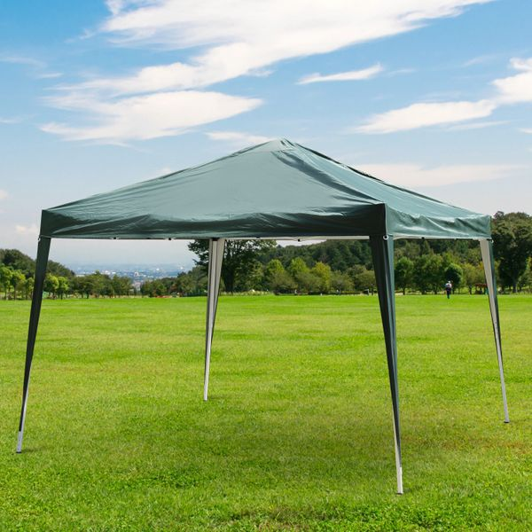 Outsunny 10x10ft Easy Pop Up Canopy Party Wedding Tent Outdoor Patio Shelter Green Aosom Canada