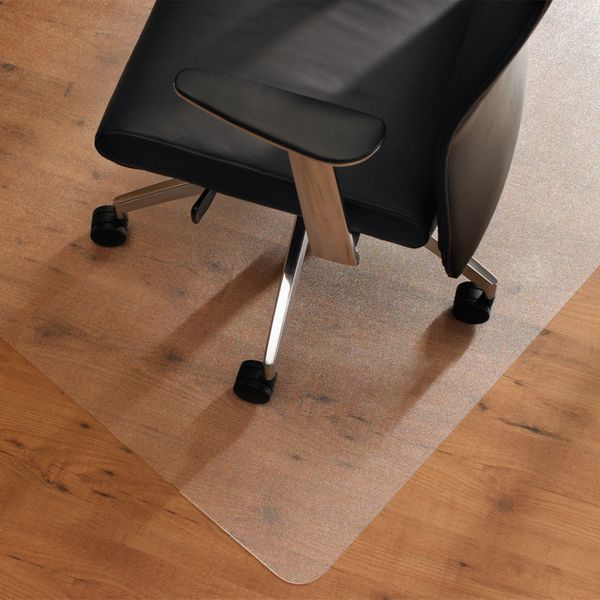 HOMCOM 35x47Inch Hard Floor Lipped Office Chair Mat Protective Carpets Floor Cover for Low Pile Carpet Frosted Transparent|Aosom.ca