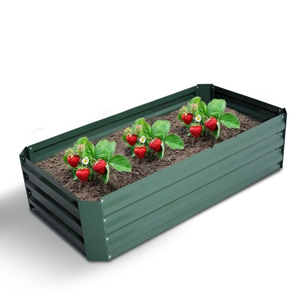 """Outsunny 47""""x24"""" Raised Garden Bed Planter Box Flower Seeds Growth Vegetables Outdoor Green"""