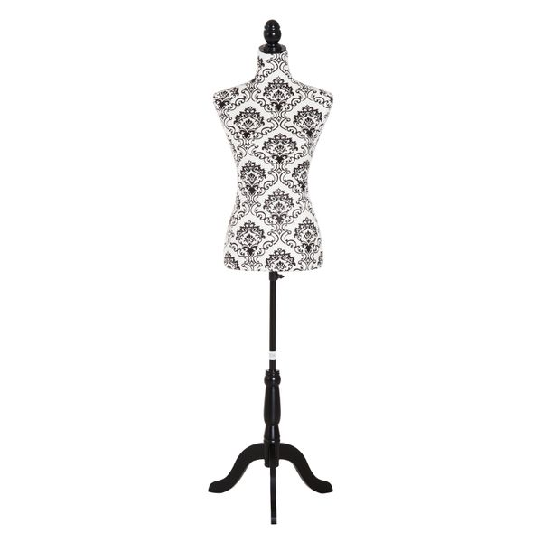 HOMCOM Adjustable Female Dress Form Fashion Mannequin Torso Clothes Display Dressmaker Stand with Base|Aosom Canada