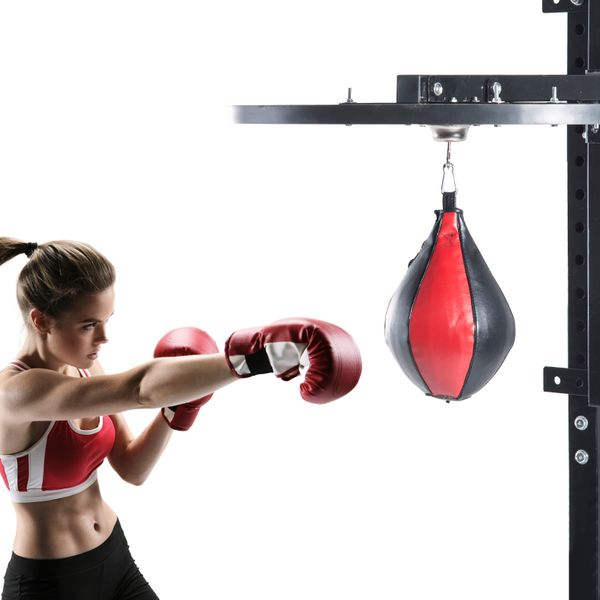 Soozier Speed Bag Platform Speedball Frame Wall Mounted Boxing MMA Workout Punching Equipment w/ Ball|Aosom Canada