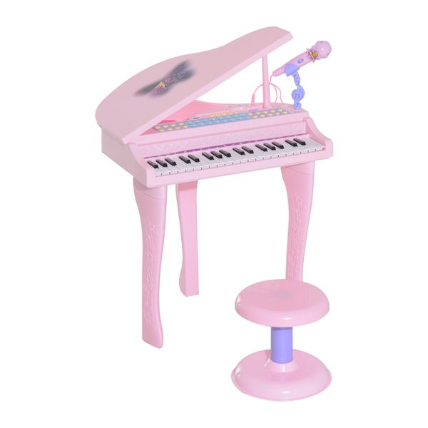 Mini Electric Mini Piano with Stool|Aosom.ca