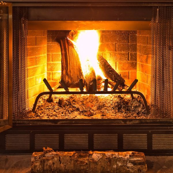 Outsunny Solid All-Steel Fire Place Log Grate V-Shape 7-Bar Ember Retainer Vented Unit Black|AOSOM.CA
