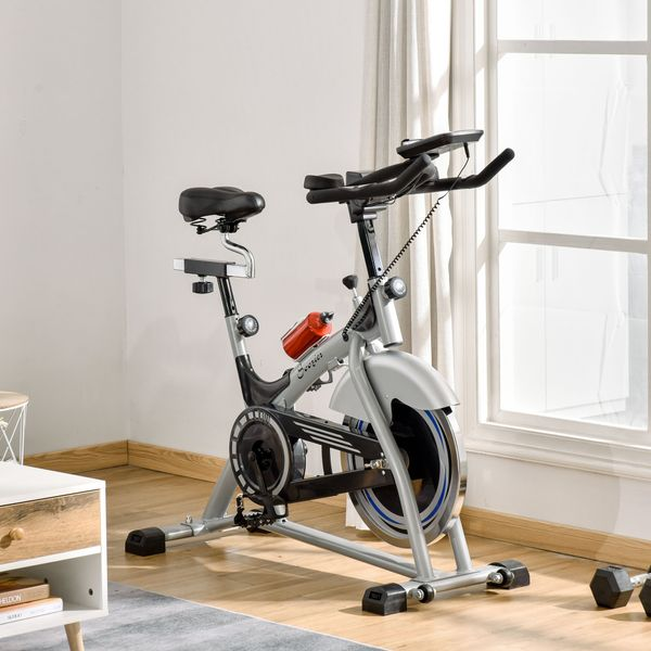 Soozier Indoor Cycling Bike Quiet Belt Drive Exercise Stationary