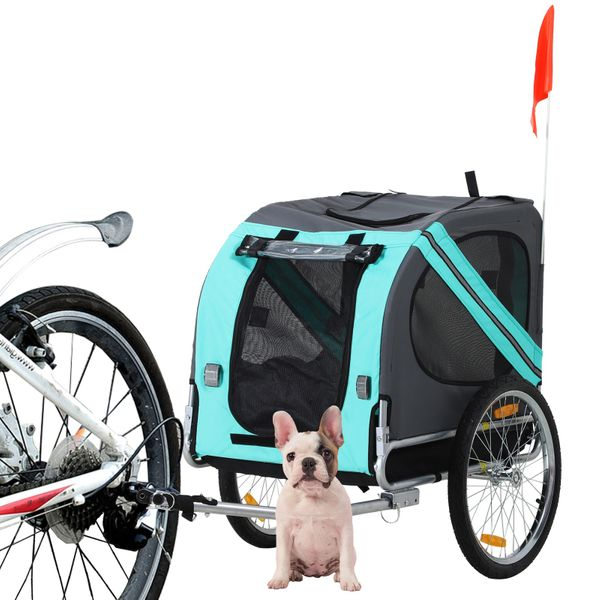 Aosom Pet Bicycle Trailer Bike Carrier Pet Stroller Cat Dog Cage 3 Wheels Stroller Travel Folding CarrierPet Bicycle Trailer Dog Cat Bike Carrier|Aosom Canada