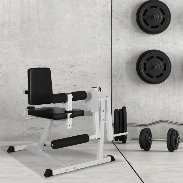 Soozier Seated Leg Extension Machine Leg Strength Bench Home Gym Fitness Workout Machine