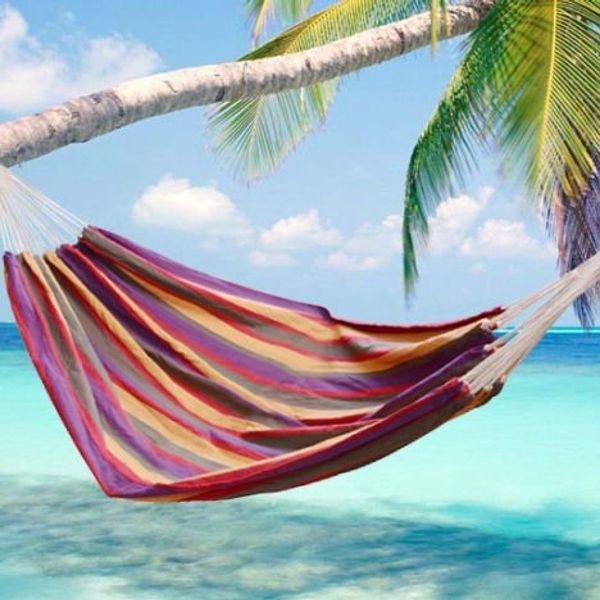 """Outsunny 83""""x59"""" Double Hammock Bed Sun Bed Lounge Garden Camping Hiking Furniture (Colour 1) 