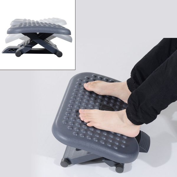 HomCom Desk Foot Rest Ergonomic Footrest Adjustable Height and Angle Home Office Foot Rest Stool | Aosom Canada