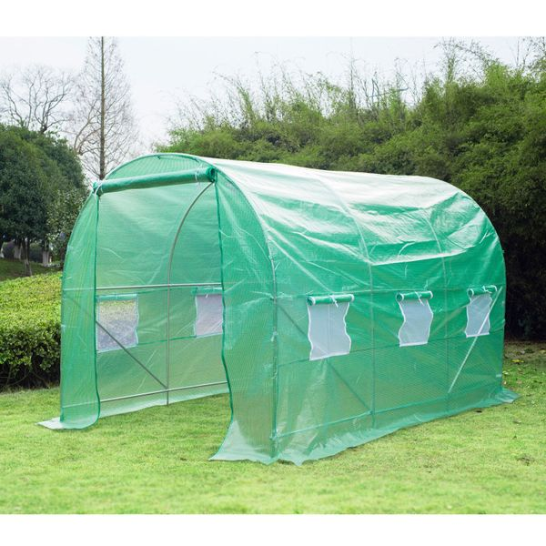 Outsunny 11.5 x 6.7x 6.7ft Walk-in Tunnel Greenhouse Dome Gardening Plant Warm House Garden