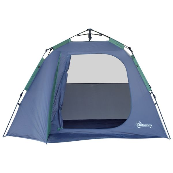 Outsunny 3-4 adults Weather-resistant camping temp W/ Removable Waterproof Rainfly Pack Storage Bag Family | Aosom Canada