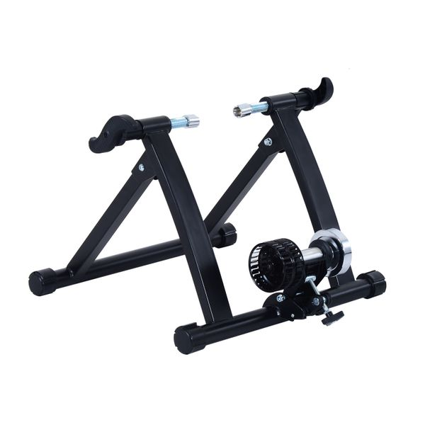 Soozier Bike Trainer Stand Bicycle Trainers Road Bike Trainer for Indoor Riding Black|Aosom Canada