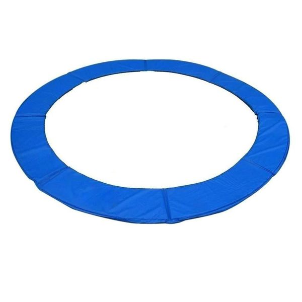 HOMCOM 14 FT Trampoline Pad Spring Safety Cover Replacement Round Frame - Blue