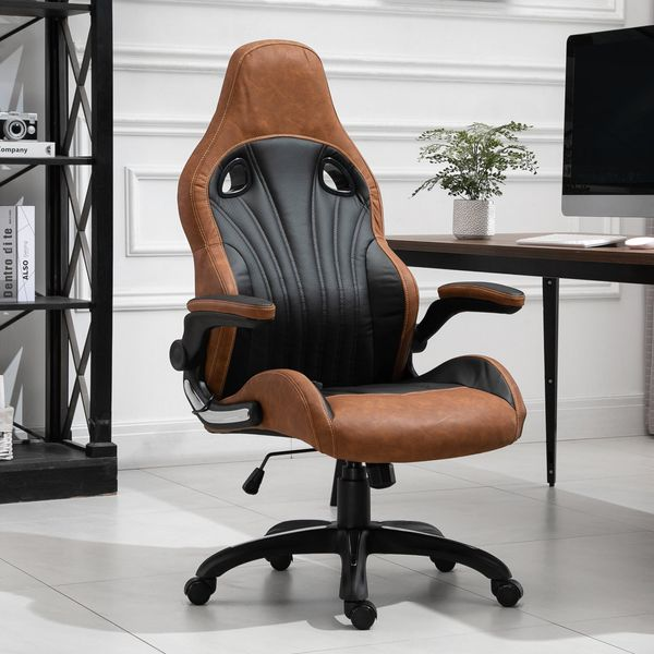 Vinsetto 6-Point Vibration Massage Office Chair High Back Faux Leather Task Chair Height Adjustable Padded Seat with Wheels w/ | Aosom Canada