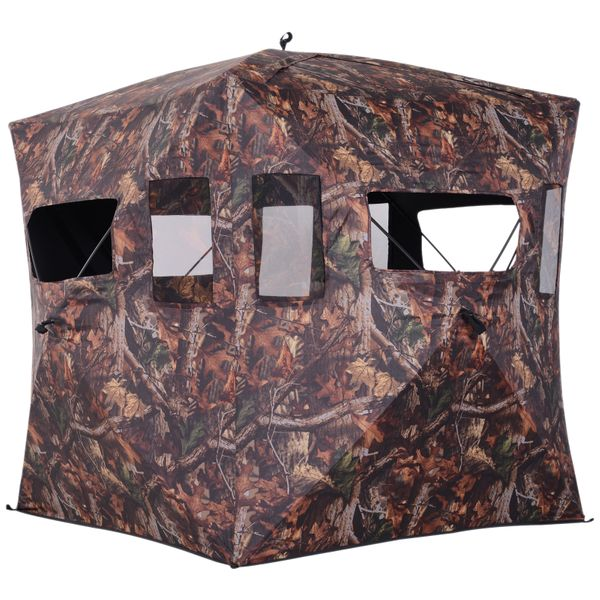 Outsunny Portable Hunting Ground Blind w/ Carry Bag Camouflage|Aosom Canada