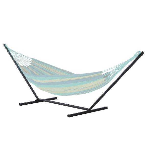 Outsunny Hammock Stand Straight Pole Simple Set Up