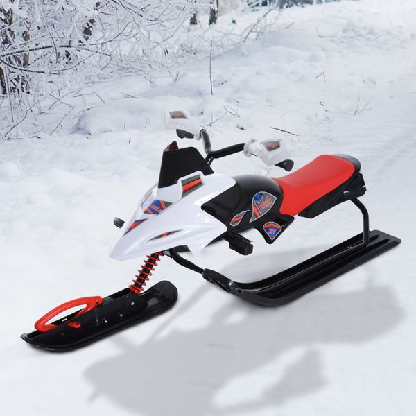 HOMCOM Snow Mobile Scooter Outdoor Winter Sled Motor Snow Racer Rush Sledge Exciting Children|Aosom.ca