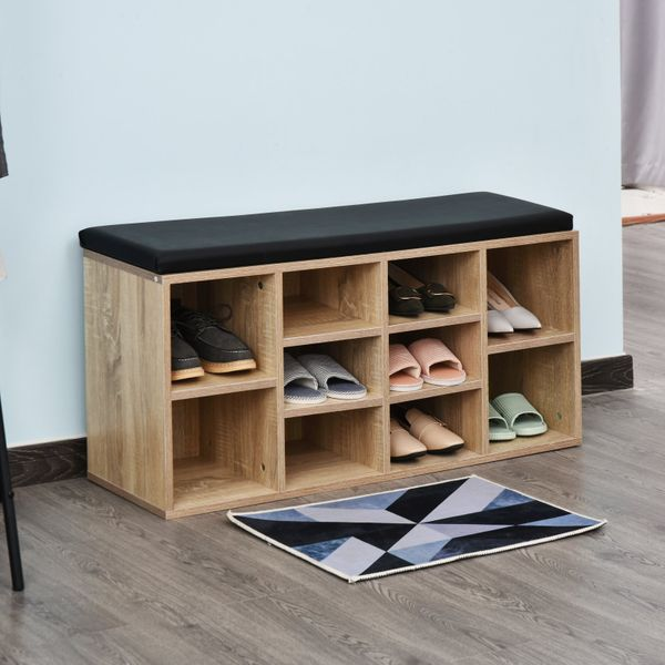 HOMCOM Multi-Function Shoes Bench Shoes Bench Ample Storage Height Adjustable Compartment | Aosom Canada