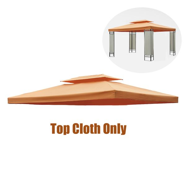 Outsunny 10x13ft 2-Tier Top Cloth Replacement Gazebo Canopy UV Water Resistant Lightweight Removable Washable Portable Foldable | Aosom Canada