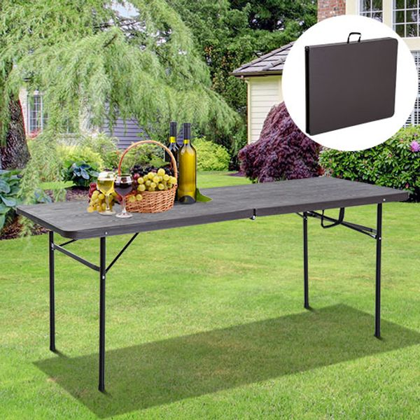 Outsunny 6ft Outdoor Folding Camping Table BBQ Party Picnic Table Coffee