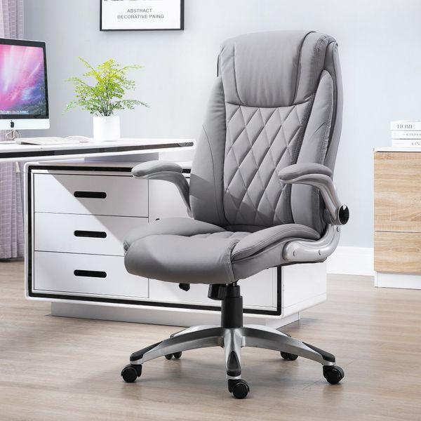 Vinsetto Adjustable Swivel Chair with Lumbar Support and Headrest|Aosom Canada