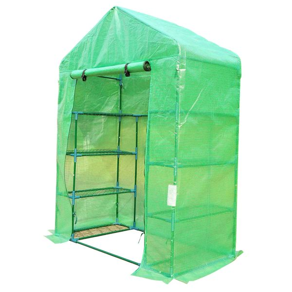 Outsunny Portable 4-Tier Warm Pop up Plants and Flower Greenhouse with Shelves, Green 56x30x78-Inch 4 Tier|Aosom Canada
