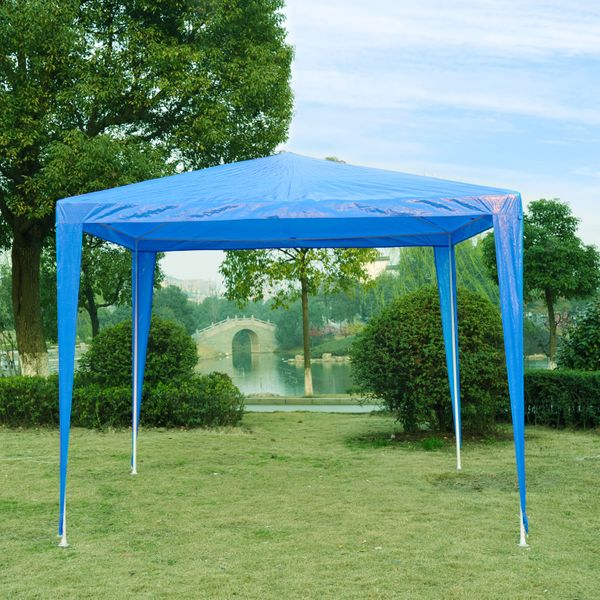 Outsunny 9'x9' Party Canopy Tent Outdoor Gazebo Canopy Blue | Aosom Canada