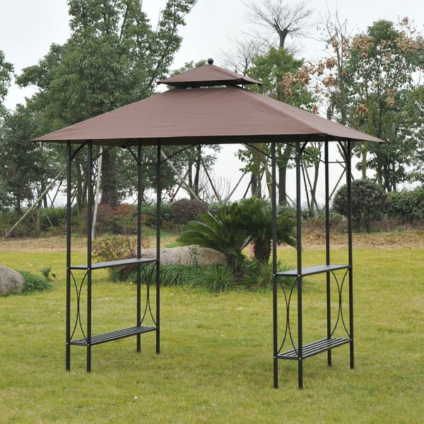 Outsunny waterproof Outdoor Awning Gazebo Party Wedding Shelter Sun shade BBQ Tent|Aosom Canada