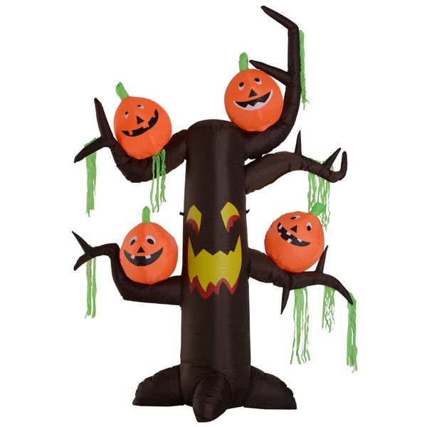 HOMCOM 8FT Lighted Airblown Inflatable Halloween Decoration Outdoor|Aosom Canada