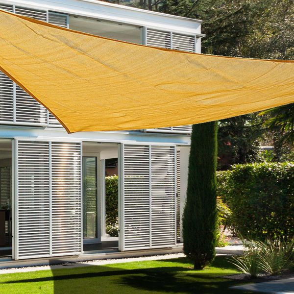 Outsunny Sun Shade Sail Triangle 9.8ft UV Top Outdoor Lawn Patio Shelter Canopy|Aosom.ca