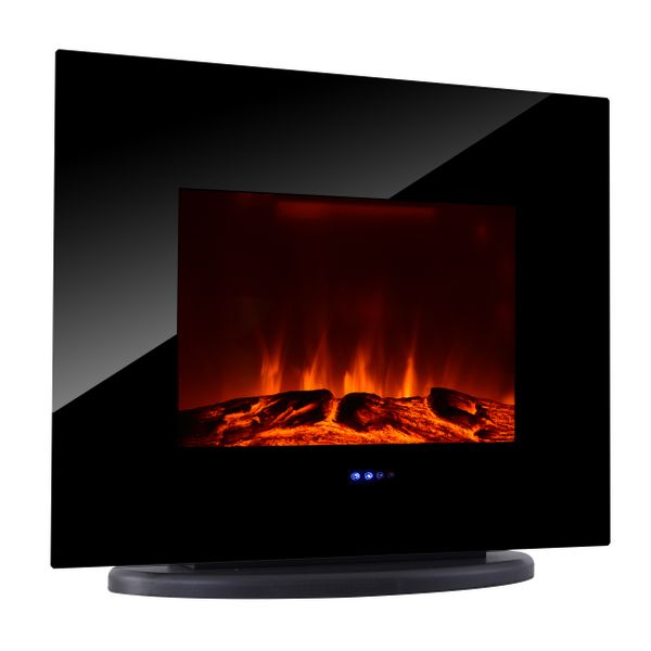 HOMCOM Wall Mounted / Free Standing Electric Fireplace 750W/1500W w/ Remote | Aosom Canada