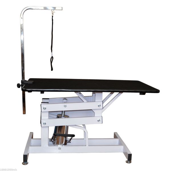 "Pawhut 42"" x 24"" Adjustable Pet Grooming Table with Arm Hydraulic H Base Dog Supply Height Type 