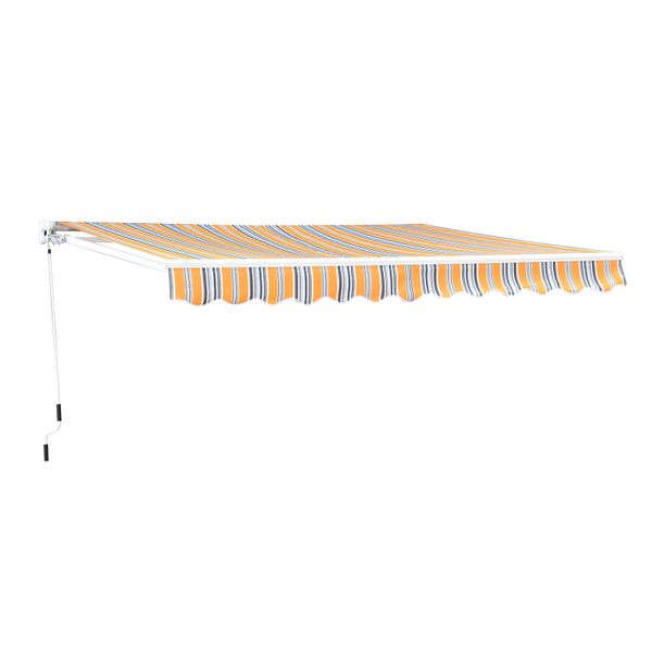 Outsunny 10'X8' Manual Retractable Patio Awning Mix Color|AOSOM.CA