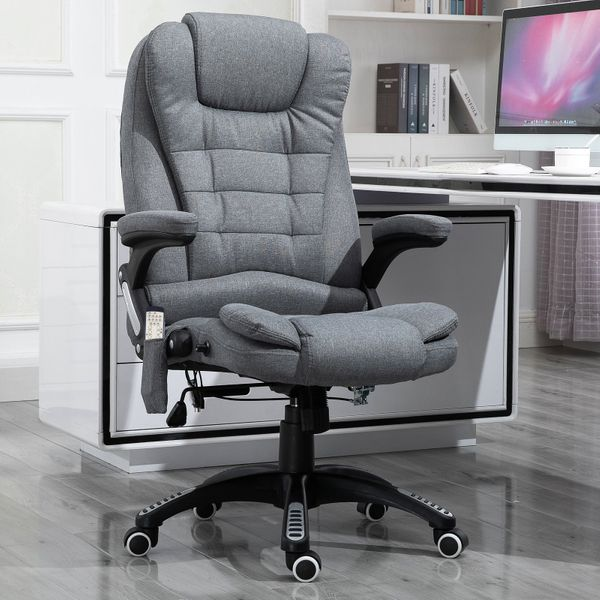 Vinsetto Massage Office Chair Relax Head 130° Reclining Chair, Grey