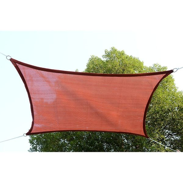 Outsunny Rectangle 13' x 20' Canopy Sun Sail Shade Garden Cover UV Protector Outdoor Patio Lawn Shelter with Carrying Bag (Rust Red)|Aosom.ca