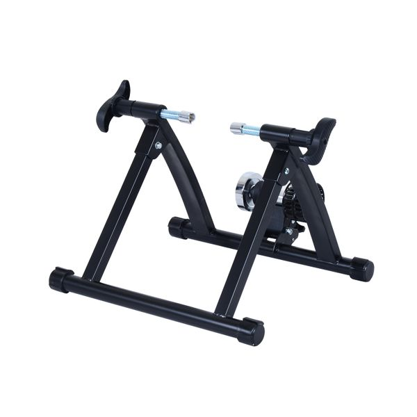 Soozier Bike Trainer Stand Bicycle Trainers Road Bike Trainer for Indoor Riding Black | Aosom Canada