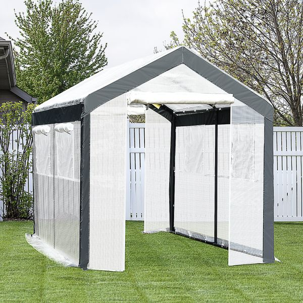 Outsunny Walk-In Greenhouse Outdoor Tunnel | Aosom Canada