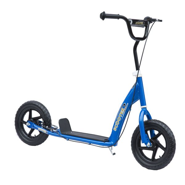 "Homcom Adjustable Kids Pro Stunt Kick Scooter Children Street Bike Bicycle Ride On with 12"" Tires Blue 