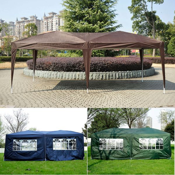 Outsunny 10x20ft Pop up Canopy Folding Portable Outdoor with 6 Sidewalls | Aosom Canada