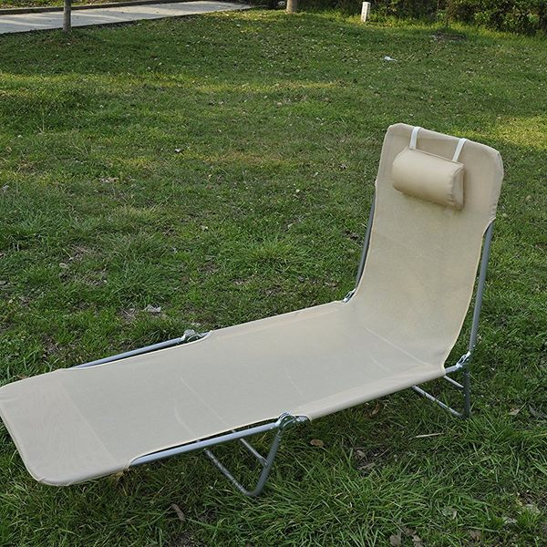 Outsunny Adjustable Back Relaxer Sun Bed Garden Lounger Recliner Chair Furniture Aosom.ca