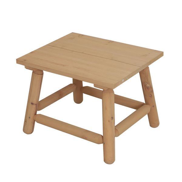 Outsunny Rectangle Rustic Log Coffee Table Natural Wood End Side Table Home Garden Furniture All Weather|Aosom Canada