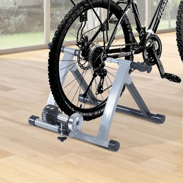 Soozier Indoor Bicycle Bike Trainer Stand Exercise Fan Fly Wind Wheel Folding Turbo (Silver)