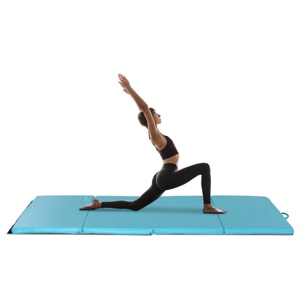 Soozier 3.8'x 9.4' Folding GYM Exercise Mat with Handles for Yoga Fitness Core Workouts | Aosom Canada