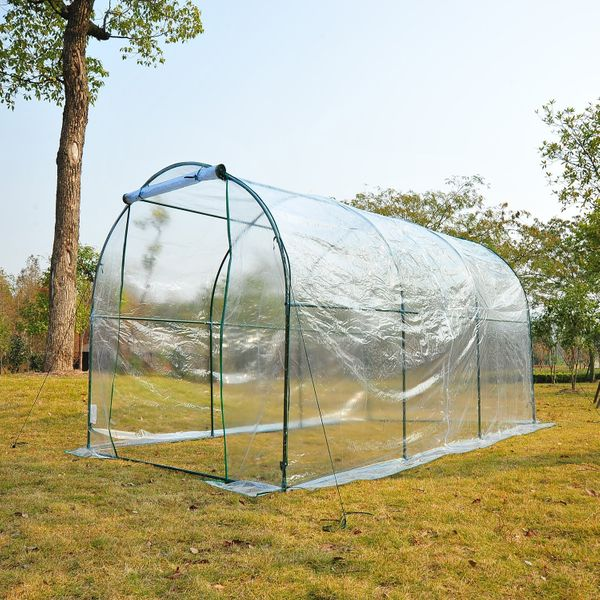 Outsunny 11.5x6.6x6.6ft Walk-in Tunnel Greenhouse Portable Transparent | Aosom Canada