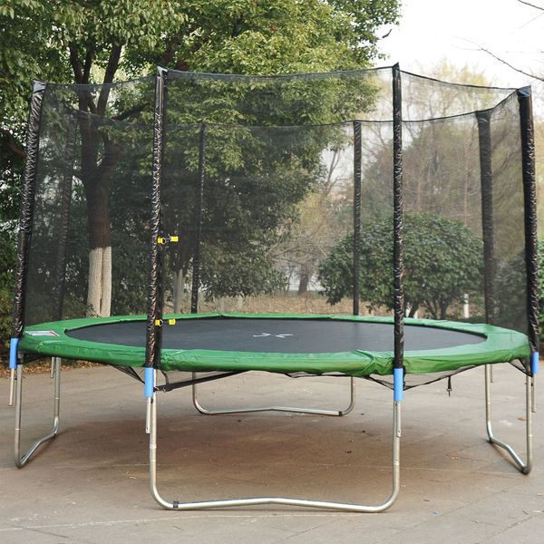 HOMCOM 14' Round Trampoline Enclosure Trampolining Bounce Safety Net Frence Replacement Aosom.ca