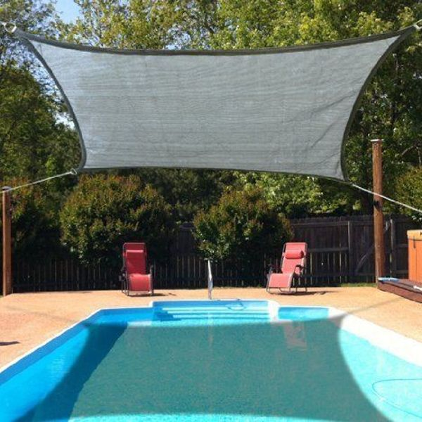 Outsunny Rectangle 10'x13' Shade Sails Grey | Aosom.ca