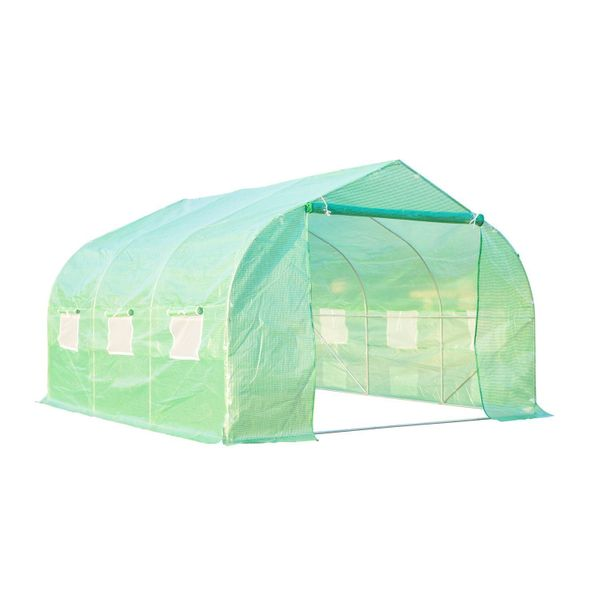 Outsunny 11.5' x10' x 6.7' Walk-in Greenhouse Garden Plant Seed Green House Premium Steel Frame|Aosom Canada